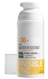 INVISIBLE ZINC 4 Hour Water Resistant Sunscreen SPF30+ 100ml
