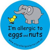 I'm Allergic to Eggs and Nuts Badge Pack - Blue