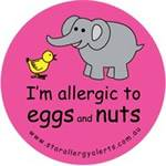 I'm Allergic to Eggs and Nuts Badge Pack - Pink