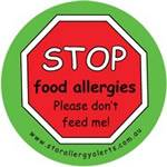 STOP Food Allergies please don't feed me! Badge Pack