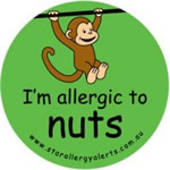 I'm Allergic to Nuts Badge Pack (Monkey) Green or Pink