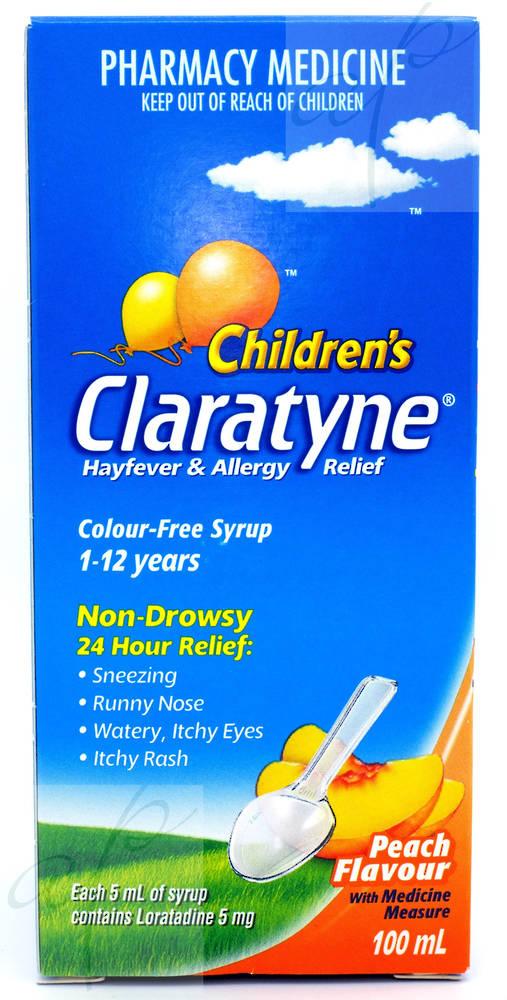 Claratyne Syrup 5mg/5ml  100ml  (Claratin) (Loratadine)