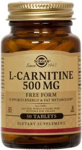 Solgar L-Carnitine 500mg 30 Tablets