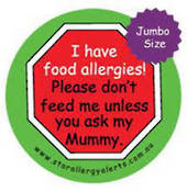 I have food allergies! Please don't feed me unless you ask my Mummy 85mm