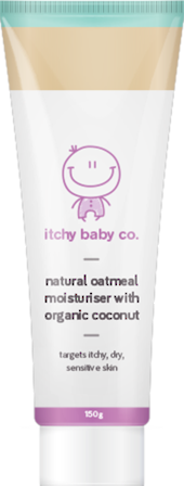 Itchy Baby Co. Natural Oatmeal Moisturiser with Organic Coconut 150g