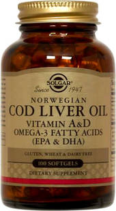 Solgar Norwegian Cod Liver Oil Softgels 100