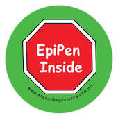 EpiPen Inside Badge - pin or sew on