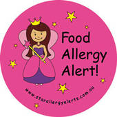 Food Allergy Alert! Pink Fairy Sticker Pack