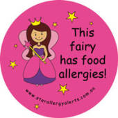 This fairy has Food Allergies! Badge Pack
