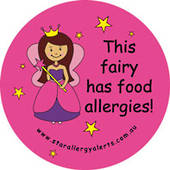 Sticker - This fairy has food allergies
