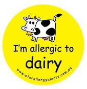 I'm allergic to dairy -  Temporary Tattoos 3 pack