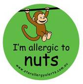 I'm allergic to nuts -  Temporary Tattoos 3 pack