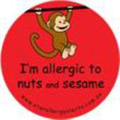 I'm Allergic to Nuts and Sesame Badge Pack