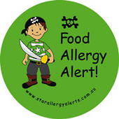 Food Allergy Alert! Sticker Pack