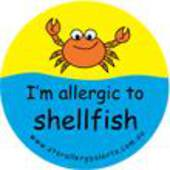 I'm Allergic to Shellfish Badge Pack