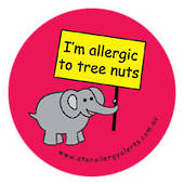 I'm Allergic to Tree Nuts Badge Pack