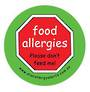 Food allergies, Please don't feed me -  Temporary Tattoos 3 pack