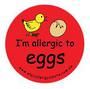 I'm allergic to eggs -  Temporary Tattoos 3 pack