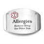 Stainless Steel Medical Alert Plaque - Allergies