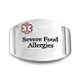 Stainless Steel Medical Alert Plaque - Severe Food Allergies