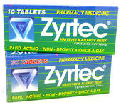 Zyrtec 10mg Tablets (Cetirizine)