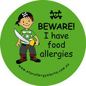 Sticker - Beware I Have Food Allergies Pirate
